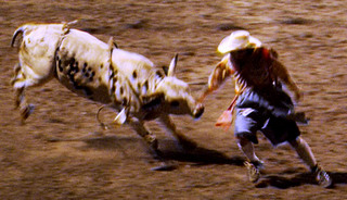 bull-charging-rodeo-clown-escape-horns-cowboy-hat-dirt-reality-show-i-will-try-anything-once-on-air-promo-cablevision-video-photo.jpg